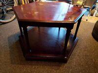 **£15** Dark Hardwood Coffee Table