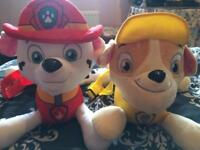 Paw patrol marshall and rubble bag. Brand new the kids have doubles