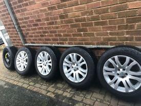 "Freelander 2 - 4 x 18"" Alloys with Tyres & 18"" Genuine Steel Spare"