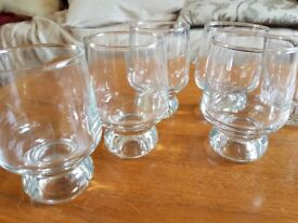 12 Glasses (Liqueur, beer and scotch/whiskey tumblers)