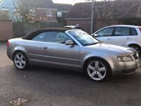 2003 AUDI A4 B6 CONVERTIBLE , 98000 MILES, LONG MOT STARTS AND DRIVES VERY WELL