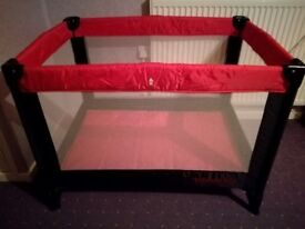 Travel cot from kiddicare
