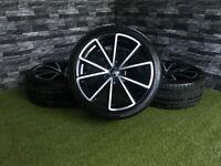 "19"" Genuine Audi RS4C S4 A4 S Line Alloy Wheels A5 A6 Alloys Tyres RS4 C Golf VW Passat Volkswagen"