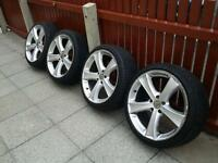 SET OF 19 INCH ALLOY WHEELS ON 235/35/19 TYRES, VAUXHALL BMW MERCEDES VW