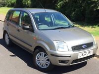 FORD FUSION3 TDCI 1.4L,TAX ONLY £30 A YEAR,BLUETOOTH HANDSFREE,NEW MOT AND SERVICE
