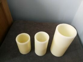 LED Candles (wax) can be used for centrepieces or table decorations (job lot)