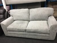 New/Ex Display Dfs Grey Large Fabric 3 Seater Sofa