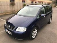 STUNNING CONDITION 7 SEATER VW TOURAN 2.0TDI,DRIVES LIKE NEW,1 YEAR MOT,2 KEYS,FULL SERVICE HISTORY