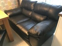 2 Seater Leather Sofa and Armchair