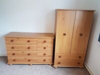 Childrens wardrobe and chest of drawers