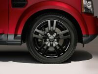 "GLOSS BLACK SET OF 4 GENUINE 20"" LAND ROVER DISCOVERY 3/4 HSE LANDMARK ALLOY WHEELS TYRE ALLOYS"