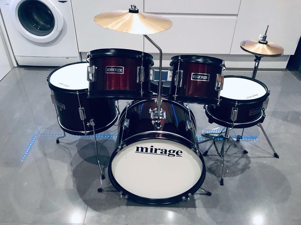 Mirage 5 Piece Junior Drum Kit Wine Red | in Gravesend, Kent | Gumtree