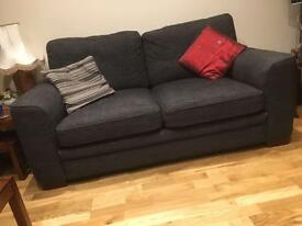 Fairway Furniture 2 Sofas charcoal dark grey