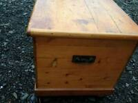 Victorian pine chest or blanket box
