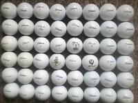 Titleist 50 golf balls all in very good condition some minted