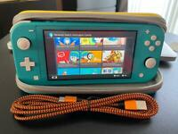 Switch Lite and Nintendo case