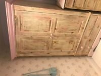 Solid wood wardrobe and matching drawers