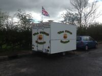 Catering trailer with pitch in staffordshire