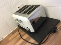 White 4 slice toaster
