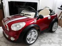 Oreos Mini Cooper Child's ride on electric car in red