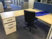 Maple desks with pedestal drawers. Excellent condition