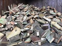 Used Hand Cut wood for stoves and open fires.