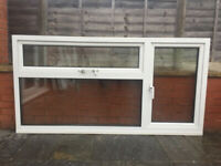 UPVC DOUBLE GLAZED WINDOW SIDE & TOP OPENERS 190cm WIDE 97.CM HIGH CLEAR GLASS Can Deliver