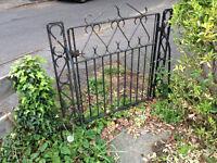 Garden Gate - Black Iron Garden Gate