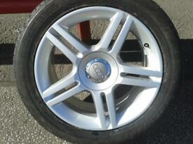 "1 X GENUINE AUDI A4 S-LINE 17"" ALLOY WHEEL & 225/50/17 TYRE 8E0601025AS"