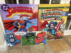 5 Superhero canvas pictures