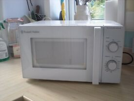 Microwave, Russell Hobbs RHM2077, clean tidy machine, hardly used.