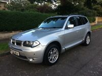 BMW X3 3.0 automatic 54 reg may swap 1 year mot fsh leather Int body kit immaculate