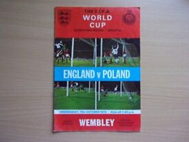 ENGLAND VS. POLAND. 1973 WORLD CUP QUALIFYING ROUND FOOTBALL PROGRAMME.