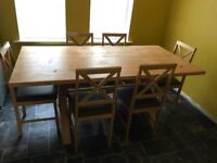 Ikea Dining Table 6 Seats Orginal Wood