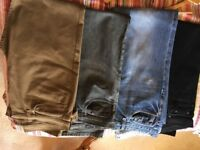 4 pairs of men's jeans