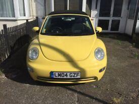 Volkswagen-Beetle, Yellow, Convertible, VGC
