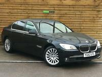 BMW 7 Series 740d 4dr Auto TWIN TURBO 306 BHP FBMWSH (black sapphire metallic) 2012