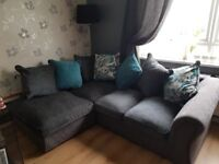 Corner sofa and chair on 4 mths old excellent condition. First to see will buy