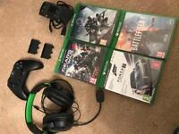 Xbox One for sale - console controller games headset charger (not PS3/PS4)