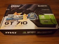 MSI NVIDIA GeForce GT 710 Silent / Low Profile 2GB GDDR3 Graphics Card