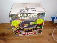 Brand New in box Raclette Grill Stone for a party of 8 people