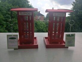 Original Oakdale Retro Telephone Box Bird Feeders