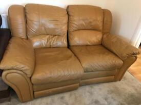 Settee real leather