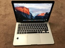 MacBook Pro (Retina 13-inch, Late 2013) 2.4 GHz Intel Core i5, 4GB RAM