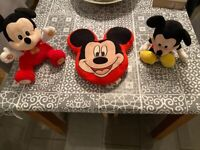 Mickey Mouse soft toys both talk/noises and pillow kids Disney