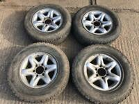 Nissan, Vauxhall, Isuzu alloy wheels and off road tyres,255/65/16,235/70/16, 6x139.7