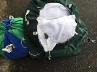 Job lot of white linen and towels