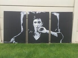 Scarface - 3 in 1 hand painted canvass pictures
