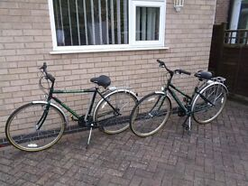 Ladies & Gents Raleigh Touring Cycles