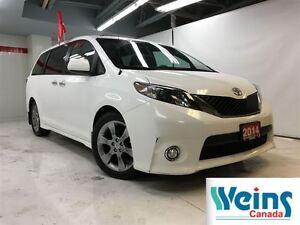 2014 Toyota Sienna $233/Bi-weekly+HST , SE , SPORTY , 8 PASSANGE